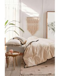 Urban Outfitters - Washed Cotton Tassel Duvet Cover - Lyst