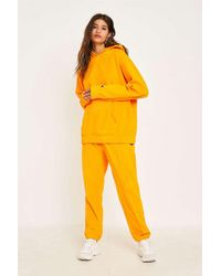 Champion Yellow Heavy Velour Track Trousers