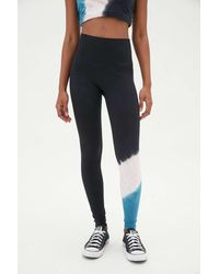 Electric and Rose Tie-dye High-waisted Legging - Blue