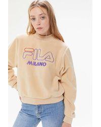 Urban Outfitters x FILA Fila Uo Exclusive Vella Sherpa Mock Neck Sweatshirt - Multicolor