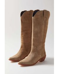 Urban Outfitters Uo Sierra Cowboy Boot - Brown