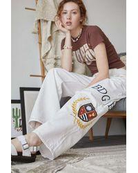BDG Embroidered Crest Harri Low-rise Boyfriend Jean - White