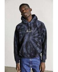 Urban Outfitters Uo Black Tie-dye Japanese Welcome Hoodie