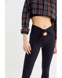 Out From Under - High-rise Tie-front Legging - Lyst