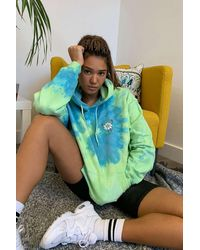Urban Outfitters Uo Stay Wild Tie-dye Hoodie - Green