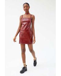 Motel - Croc Mini Dress - Lyst