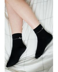 Urban Outfitters - Uo Hello Bye Crew Socks - Lyst