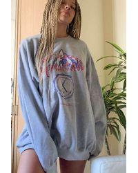 Urban Outfitters Uo Collegiate Sweatshirt Dress - Grey
