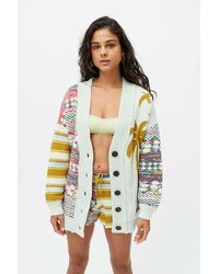 Urban Outfitters Uo Sabrina Palm Cardigan - Multicolour