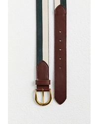 Urban Outfitters Colorblock Suede Belt - Green
