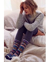 Urban Outfitters - Winter Fair Isle Over-the-knee Sock - Lyst
