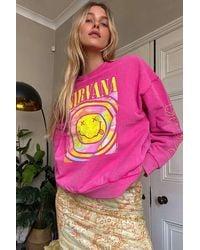 Urban Outfitters UO - Sweatshirt Nirvana in Rosa - Pink