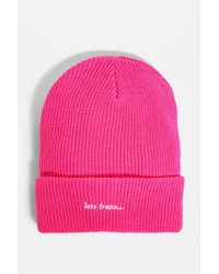 iets frans... Gerippte Beanie in Rosa - Pink
