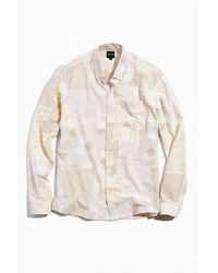 Pleasant Upcycled Print Button-down Shirt - Multicolor
