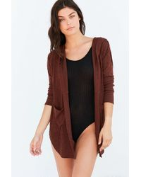 Out From Under - Cozy Penelope Hoodie Cardigan - Lyst