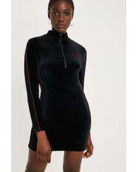 Fila - Heidi Black Velour Mini Dress - Lyst