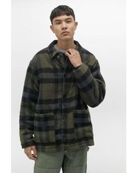 Urban Outfitters Uo Donkey Green Checked Chore Jacket