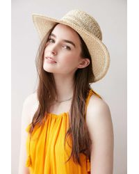 Ecote - Geo Straw Packable Boater Hat - Lyst