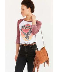 Ecote - Suede Fringe Shoulder Bag - Lyst