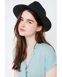 BDG - Straw Panama Hat - Lyst