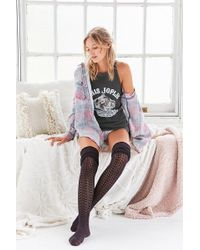 Urban Outfitters - Tonal Scrunchy Over-the-knee Sock - Lyst