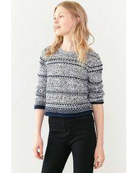 Cooperative Multi-stitch Pullover Sweater - Blue