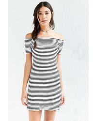 Cooperative Odelia Ribbed Off-the-shoulder Dress - Black