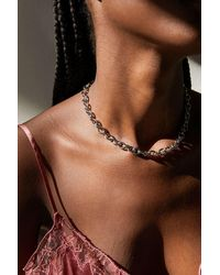 Urban Outfitters Luca Chunky Oval Chain Necklace - Multicolor