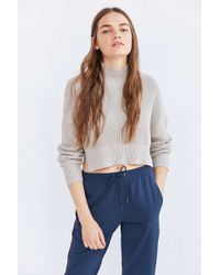 Silence + Noise - Cropped Mock-neck Sweater - Lyst
