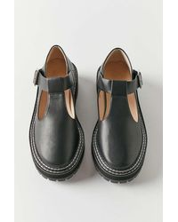 Urban Outfitters Uo Marion Treaded Mary Jane - Black