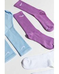 Nike Everyday Plus Lightweight Training Crew Sock 3-pack - Blue