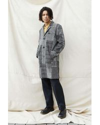 Native Youth Stanley Patchwork Overcoat - Grey