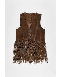 Urban Renewal One-of-a-kind Suede Tassel Waistcoat - Brown