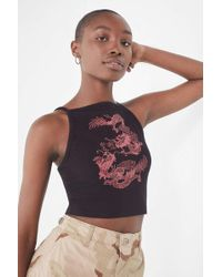 Truly Madly Deeply - Dragon Halter Tank Top - Lyst