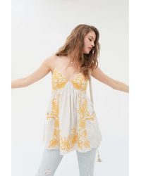 Urban Outfitters Uo Tori Embroidered Babydoll Top - Multicolor