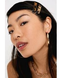 Urban Outfitters Tortoise Resin Hair Clip Set - Brown