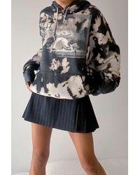 Urban Outfitters Joy Division Bleached Hoodie Sweatshirt - Black