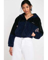 iets frans... Colourblock Fleece Cropped Jacket - Black