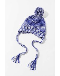 Urban Outfitters Uo Space-dye Trapper Hat - Blue