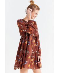 Urban Outfitters - Uo Lydia Chiffon Babydoll Mini Dress - Lyst