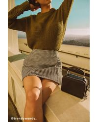 Cooperative Gingham Side-pocket Mini Skirt - Multicolor