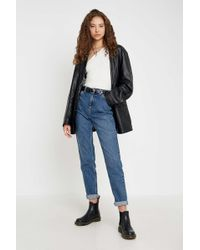 BDG Mom-Jeans aus recycelter Baumwolle - Blau