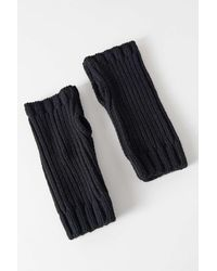 Urban Outfitters Uo Ribbed Knit Fingerless Glove - Multicolour
