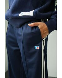 Russell Athletic Uo Exclusive Navy Track Trousers - Blue