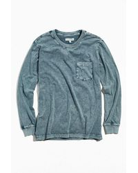 Standard Cloth Acid Wash Long Sleeve Tee - Green