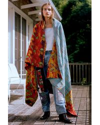 Urban Renewal One-of-a-kind Kantha Throw Blanket - Multicolor