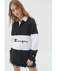 Champion Uo Exclusive Boyfriend Rugby Shirt - Black