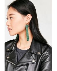 Vanessa Mooney - Astrid Knotted Tassel Earring - Lyst