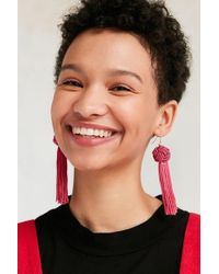 Vanessa Mooney - The Astrid Knotted Tassel Earrings - Lyst