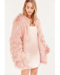 Kimchi Blue - Stella Shaggy Faux Fur Coat - Lyst
